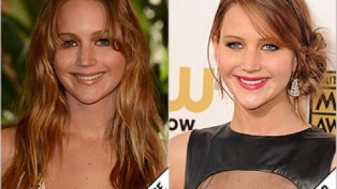 The Makeover Poll: Jennifer Lawrence's Fancy Updo | StyleCaster
