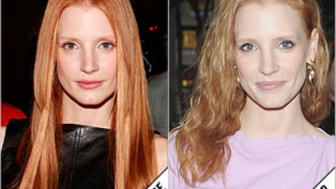 The Makeover Poll: Jessica Chastain's Slept-In Waves | StyleCaster