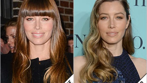 The Makeover Poll: Jessica Biel's Grown Out Bangs   StyleCaster