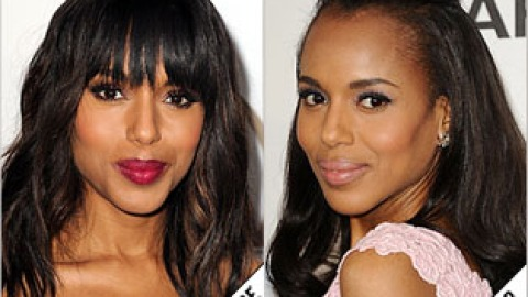 The Makeover Poll: Kerry Washington Hides Her Bangs   StyleCaster