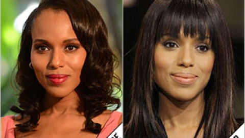 The Makeover Poll: Kerry Washington Straightens Up & Gets Blunt Bangs | StyleCaster