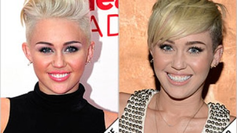 The Makeover Poll: Miley Styles Her 'Do Differently   StyleCaster