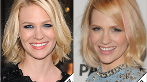 The Makeover Poll: January Jones Goes Pink   StyleCaster