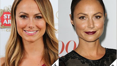 The Makeover Poll: Stacy Keibler's Dark Berry Lip | StyleCaster
