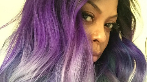 Breaking Hair News: Taraji P. Henson Goes Purple! | StyleCaster