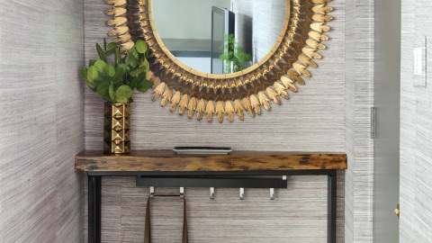 12 Chic Ways to Use Textured Wallpaper  | StyleCaster