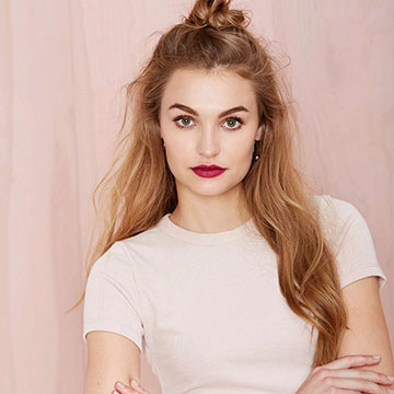 Your Weekend Hairstyle: The Half-Up Top Knot