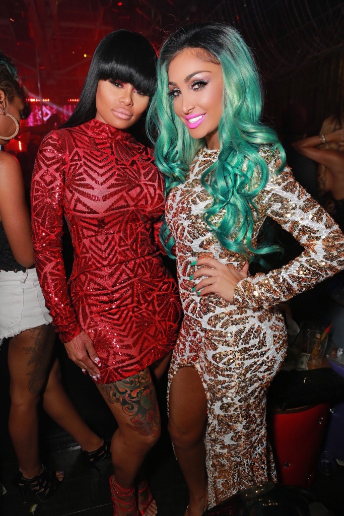 Blac Chyna and Angel Brinks, both wearing Brinks' designs