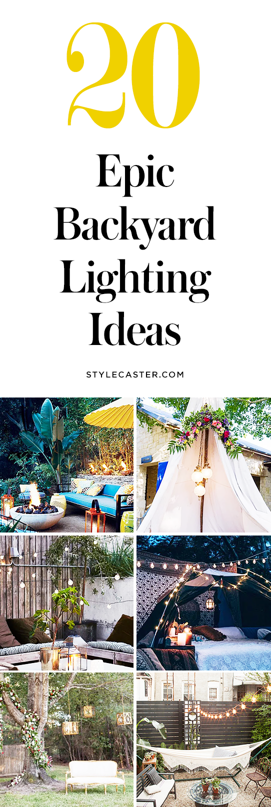 20 Epic Backyard Lighting Ideas to Inspire your Patio Makeover | Outdoor Lighting | @stylecaster