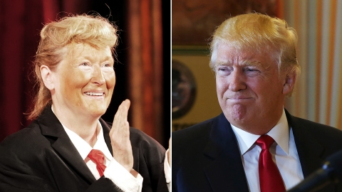 Meryl Streep Dressed Up As Donald Trump Proves Sometimes the World's Perfect | StyleCaster