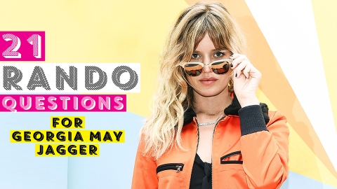 21 Random Questions for Georgia May Jagger | StyleCaster