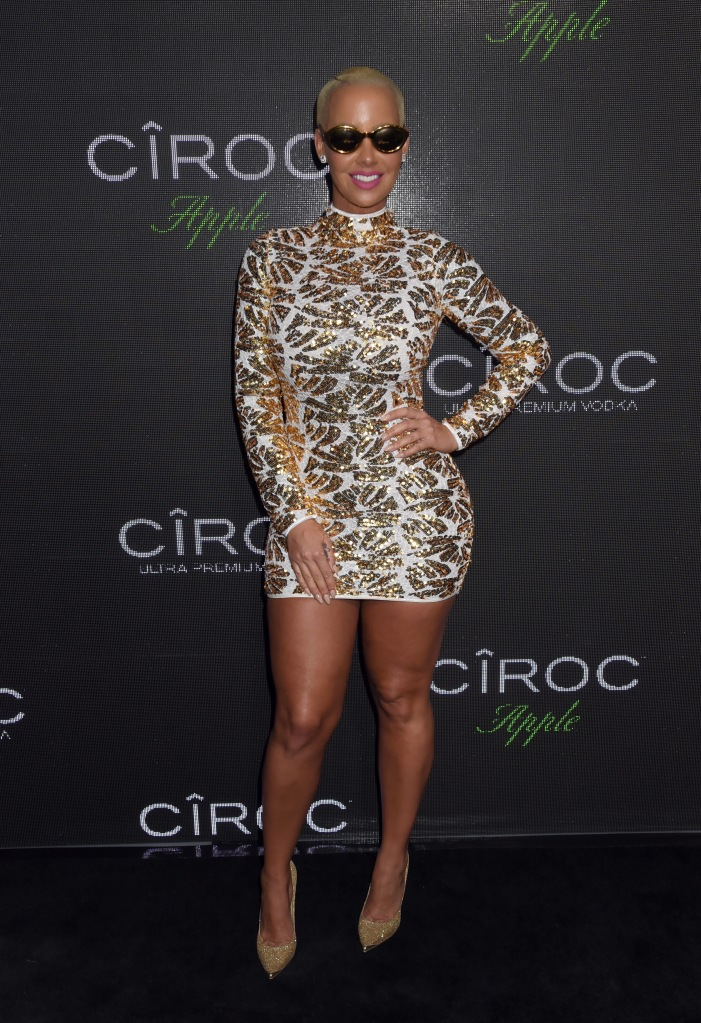 """BEVERLY HILLS, CA - NOVEMBER 22: Model Amber Rose attends Sean """"Diddy"""" Combs Exclusive Birthday Celebration Presented By CIROC Vodka on November 22, 2015 in Beverly Hills, California. (Photo by Jeff Kravitz/FilmMagic)"""