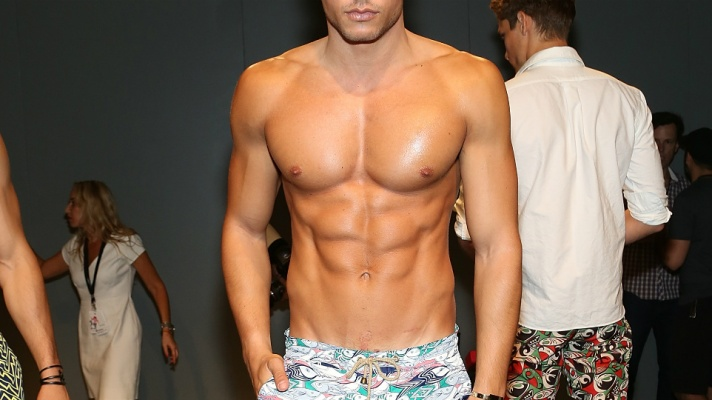 Let's All Take a Second and Ogle Male Bathing-Suit Models for a Change