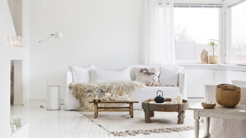 20 White Living Rooms Made for Modern Minimalists  | StyleCaster