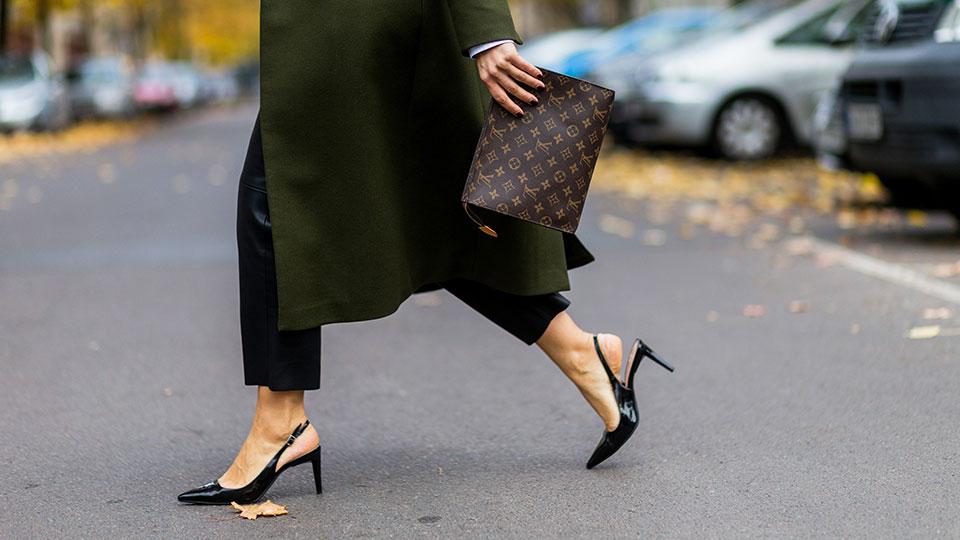 Woman Walking in Pumps