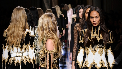 Balmain's Fall Campaign Features Crying Models, Kanye West | StyleCaster