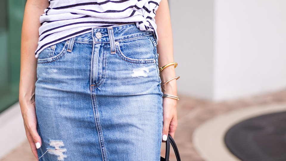 A Shoppable Guide to Denim Pencil Skirts