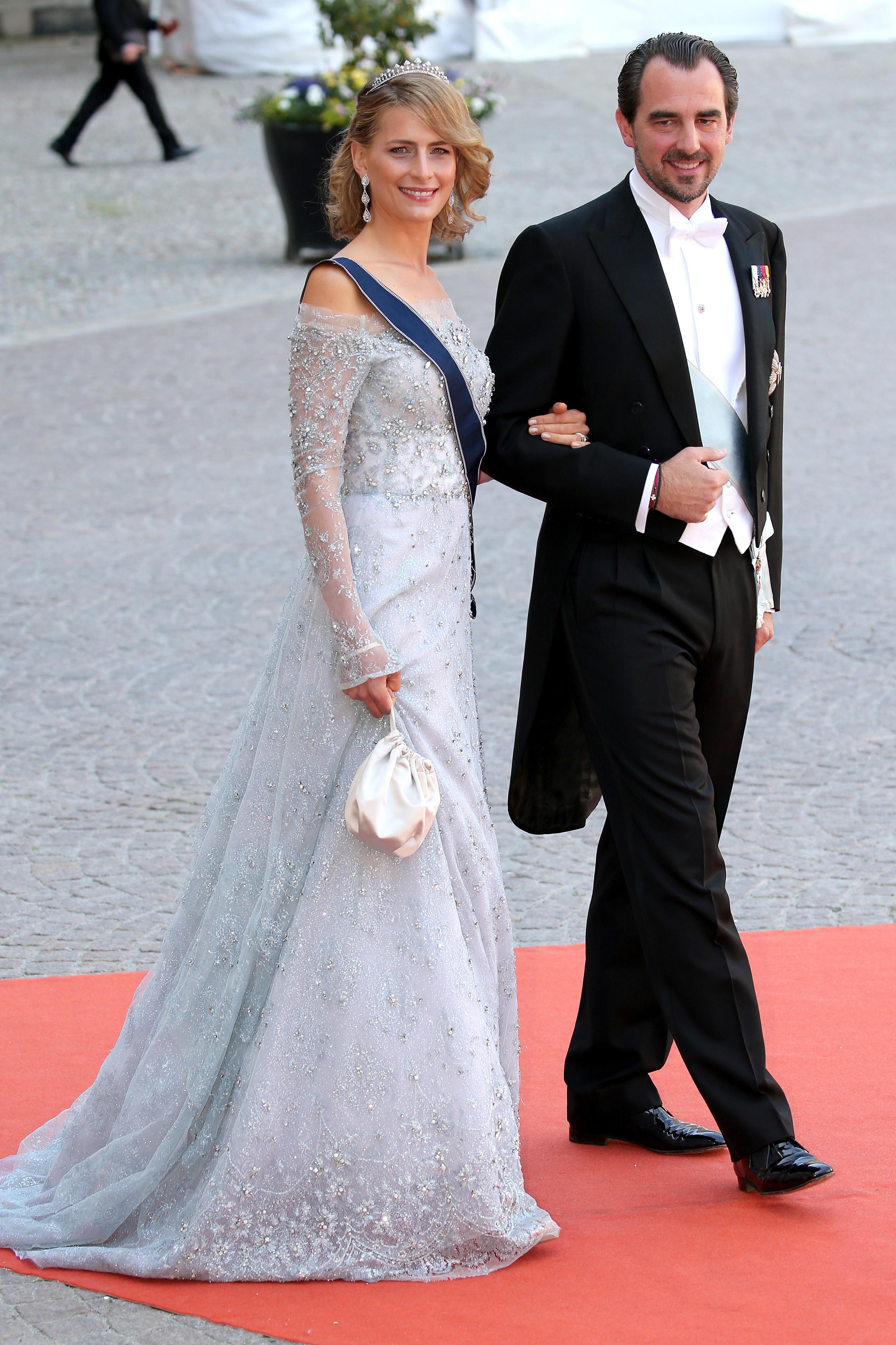 Prince Nikolaos of Greece (R) and Princess Tatiana of Greece