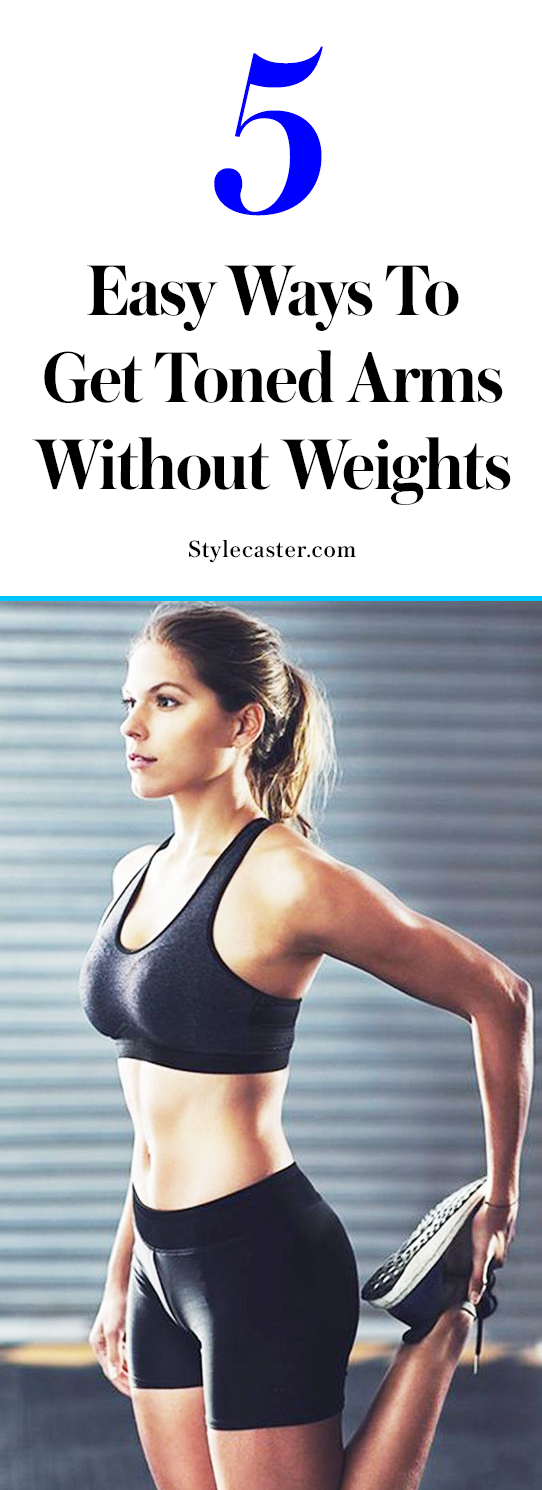 How to tone arms at home without weights | @stylecaster