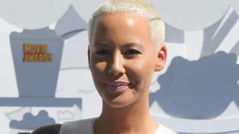 Must-See Pic of the Day: Amber Rose with Long Dark Hair | StyleCaster