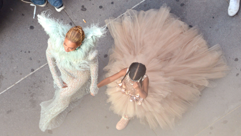 Here's Blue Ivy Throwing a Tantrum in a Princess Outfit   StyleCaster