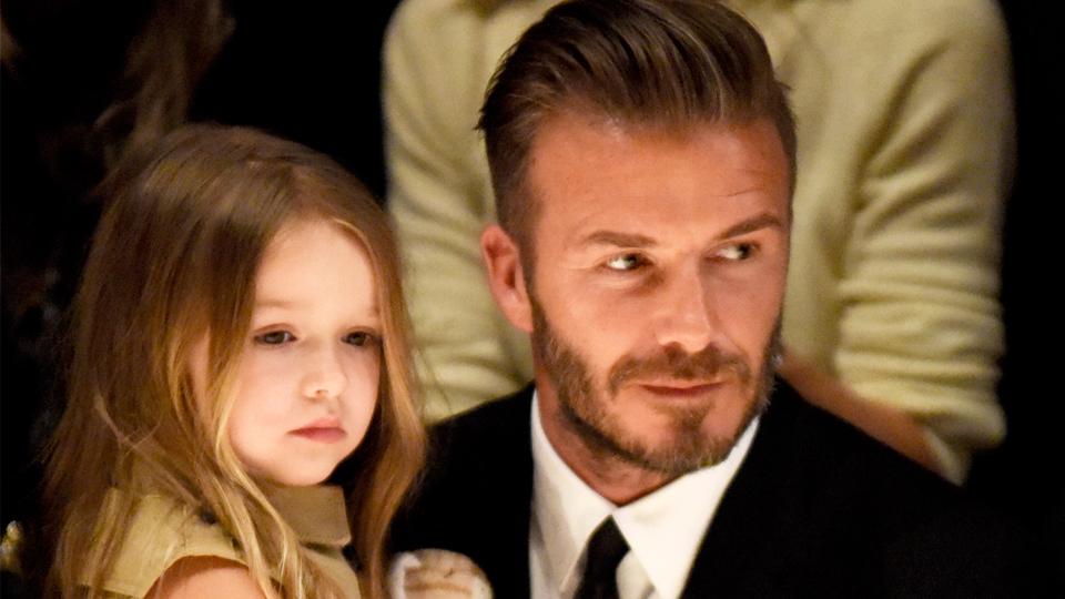 david harper beckham Cute: David Beckham Caught Harper Stealing Her Moms Shoes for Her Toy Corner
