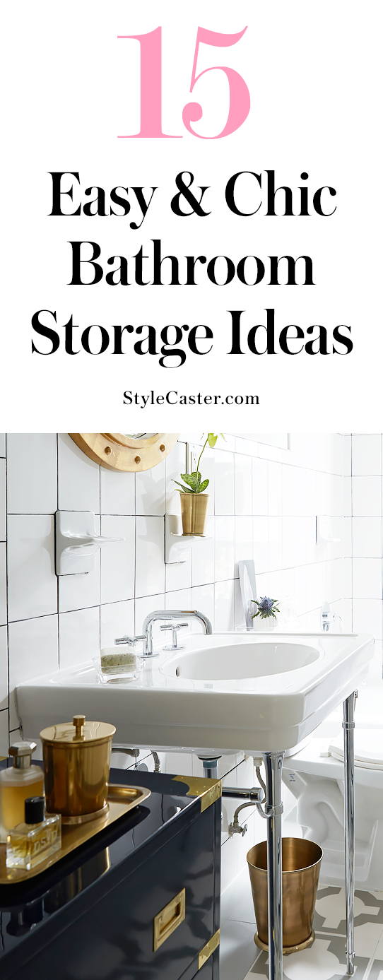 15 DIY bathroom storage ideas that look anything but | @stylecaster | organization tips | small spaces | apartment living