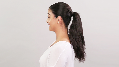 Watch How to Do a Sleek Ponytail Using Zero Heat Tools | StyleCaster