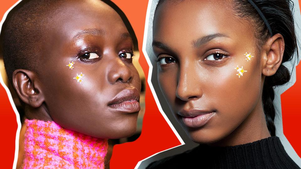 Here's What 12 Top Highlighters Look Like on Dark Skin
