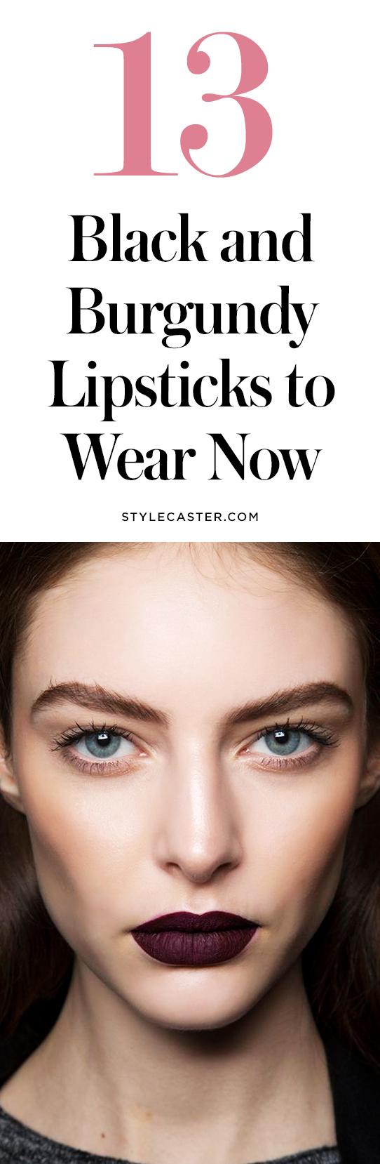 The best black and burgundy lipsticks | @stylecaster