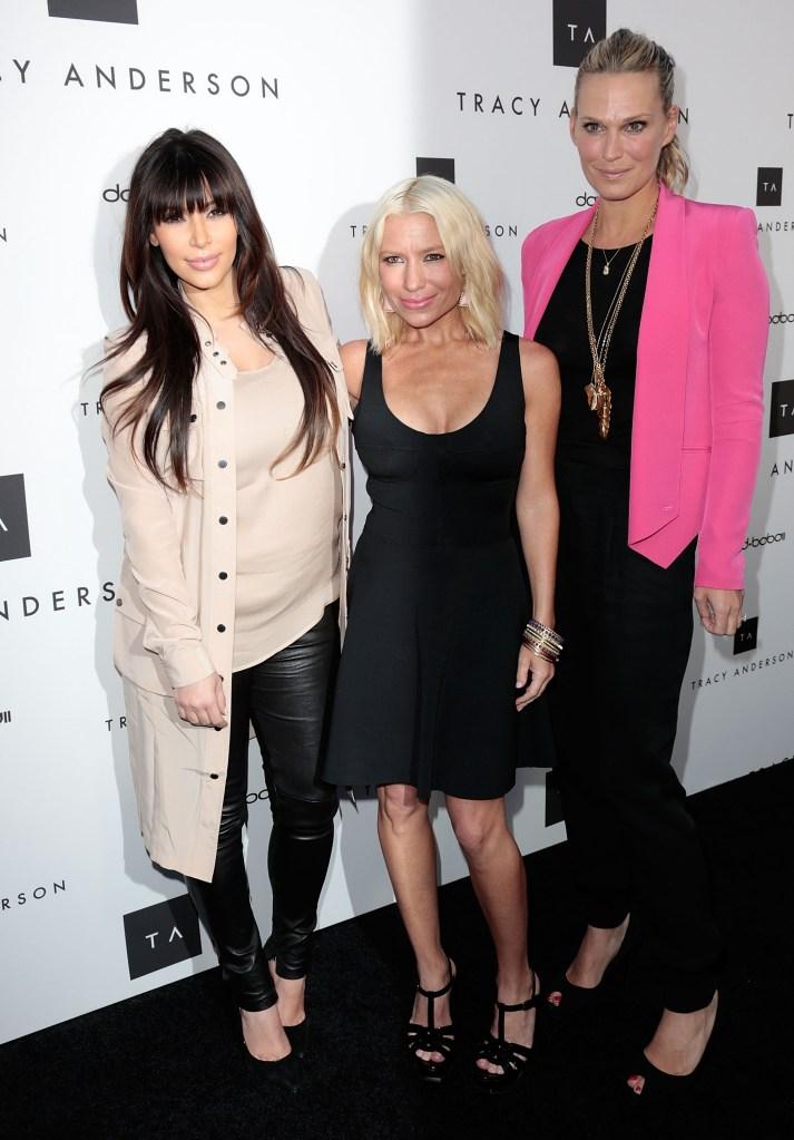 Kim Kardashian, Tracy Anderson, and Molly Sims. Photo: Wenn