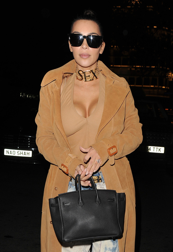 Kim Kardashian Posts a Shot of Her Breasts, Live from Paris