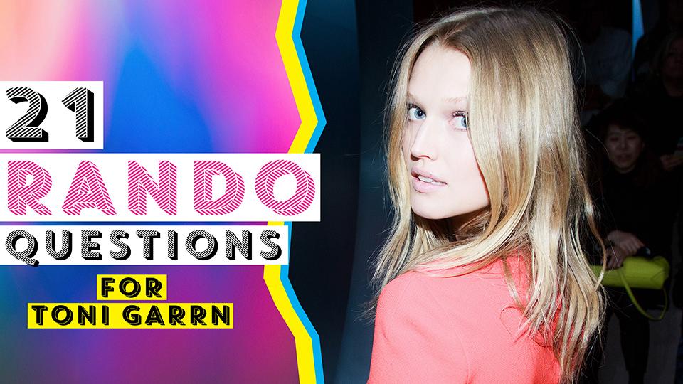 Toni Garrn Talks Vegan Ice Cream, German Swear Words, and Her Most-Used Emoji