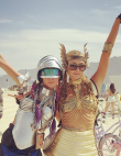 19 Outrageous Celebrity Pics from Burning Man