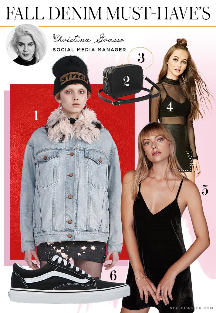christina denim jacket1 How 8 STYLECASTER Editors Style Falls Must Have Denim