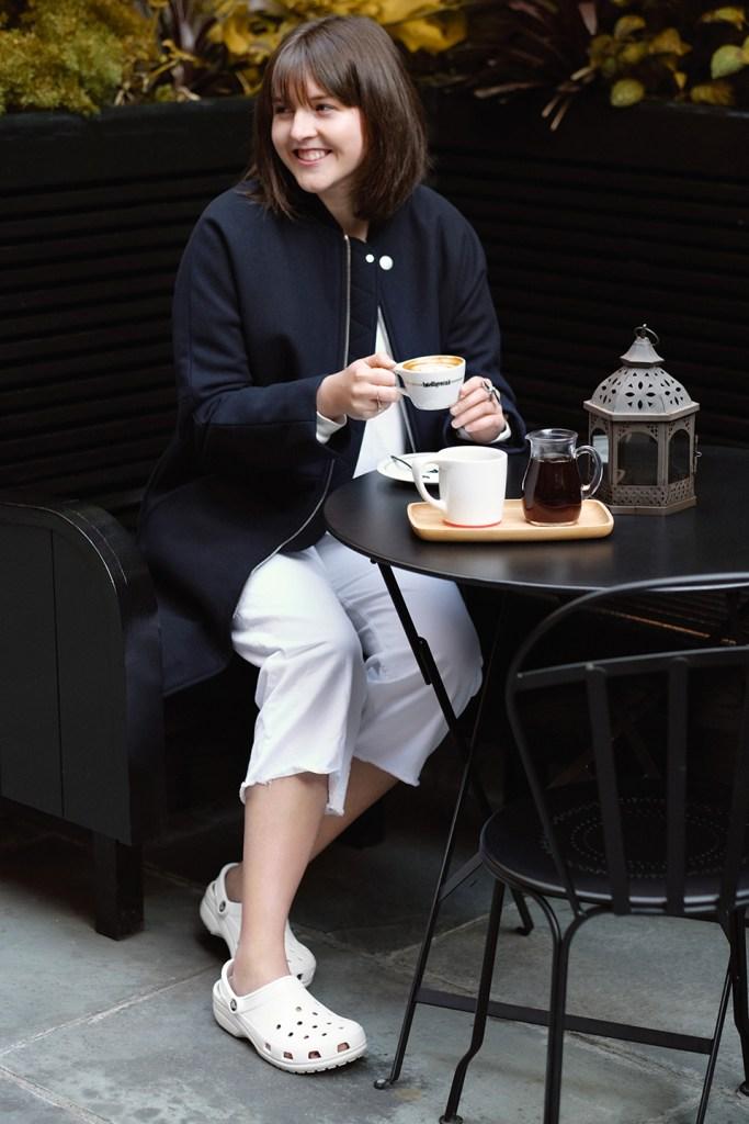 hgp crocs brunch How STYLECASTER Fashion Editor Hilary George Parkin Wears Crocs