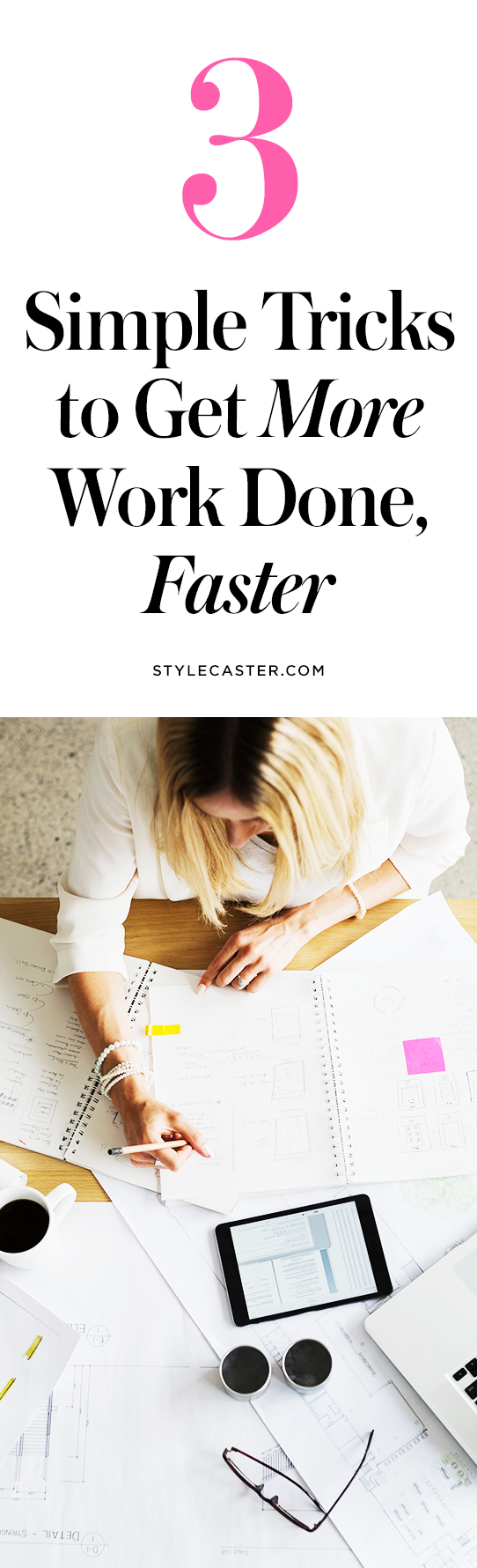 3 easy ways to increase work productivity | @stylecaster