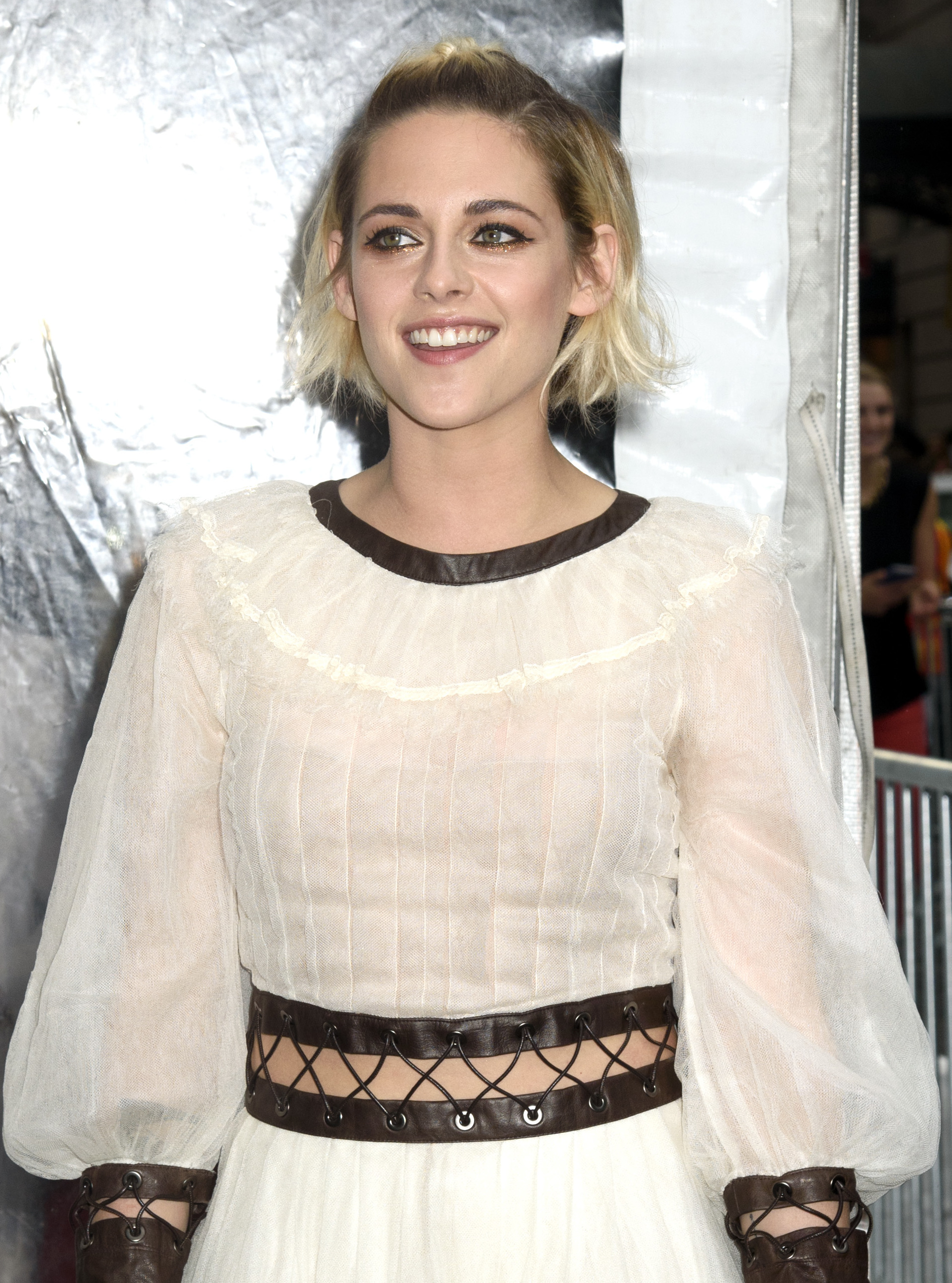 Kristen Stewart Opts Out of a Shirt on the Red Carpet, Pants on the Street