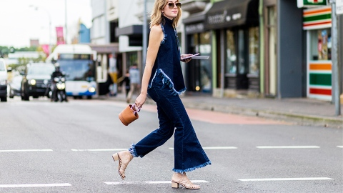 The Street Style Guide To Styling Wide-Leg Jeans | StyleCaster