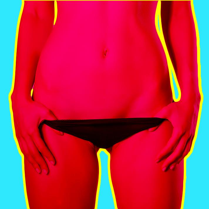 Woman in Bikini Underwear