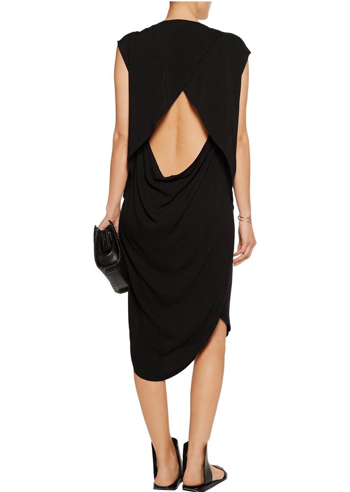 Oak Cutout Voile Dress, $51 (was $340); at The Outnet https://www.theoutnet.com/en-US/Shop/Product/OAK/Cutout-voile-dress/762057