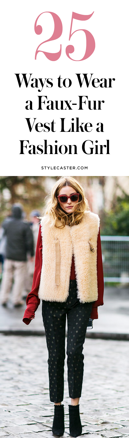 25 faux-fur vest outfits to copy now | @stylecaster