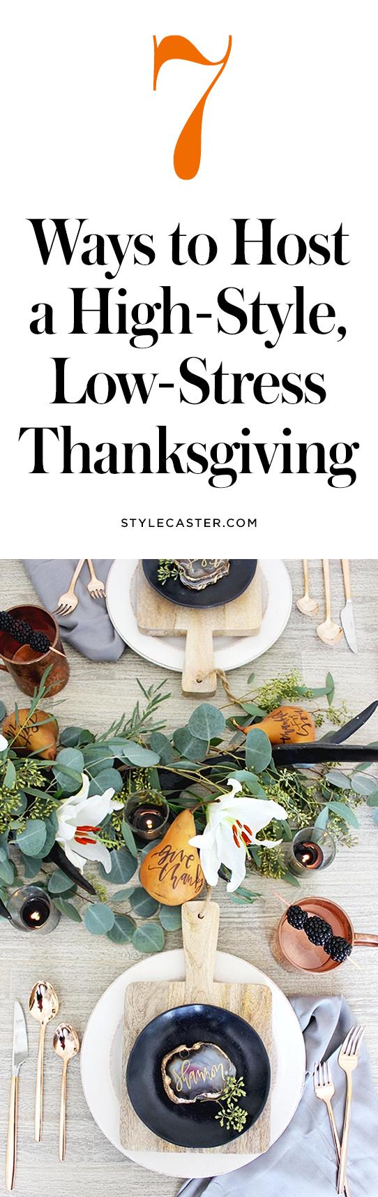 Tips on how to host Thanksgiving dinner | @stylecaster