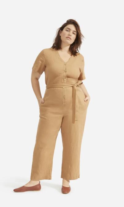 STYLECASTER | Best Sustainable Clothing Brands | jumpsuit Everlane