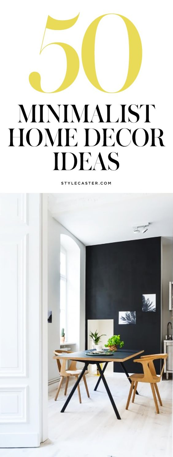 50 minimalist home decor ideas | @stylecaster