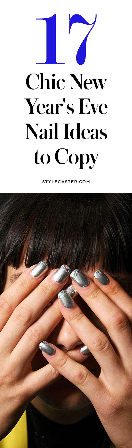 17 chic New Year's Eve nail ideas | @stylecaster