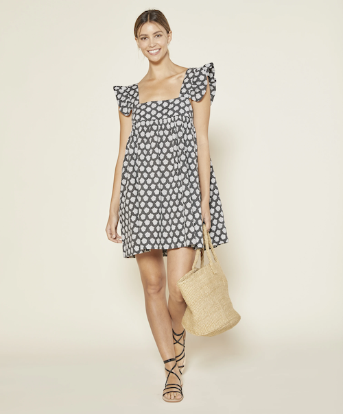 STYLECASTER | Best Sustainable Clothing Brands | polka dot dress Outerknown