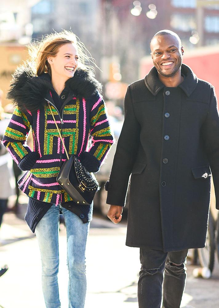 Stylish Couple Walking