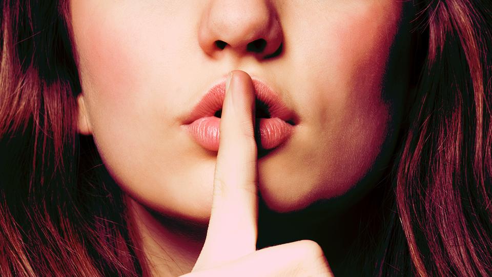 Woman Saying Shh