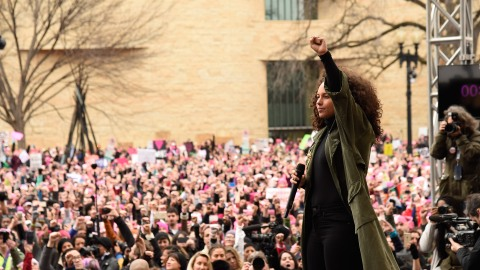 How 20 Celebrities Marched on Washington Today | StyleCaster